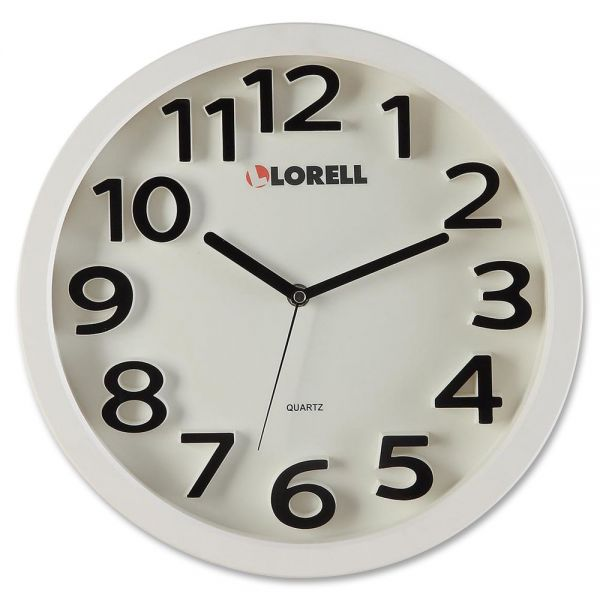 "Lorell 13"" Round Quartz Wall Clock"
