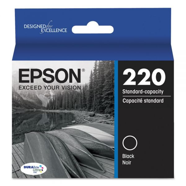 Epson T220120 (220) DURABrite Ultra Ink, Black