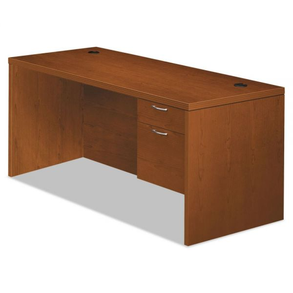 "HON Valido Right Pedestal Desk | 1 Box / 1 File Drawer | 66""W"