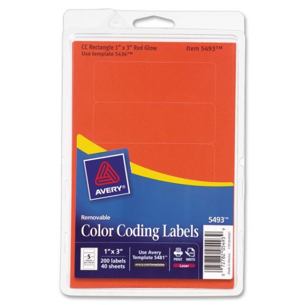 Avery Color Coding Multipurpose Labels