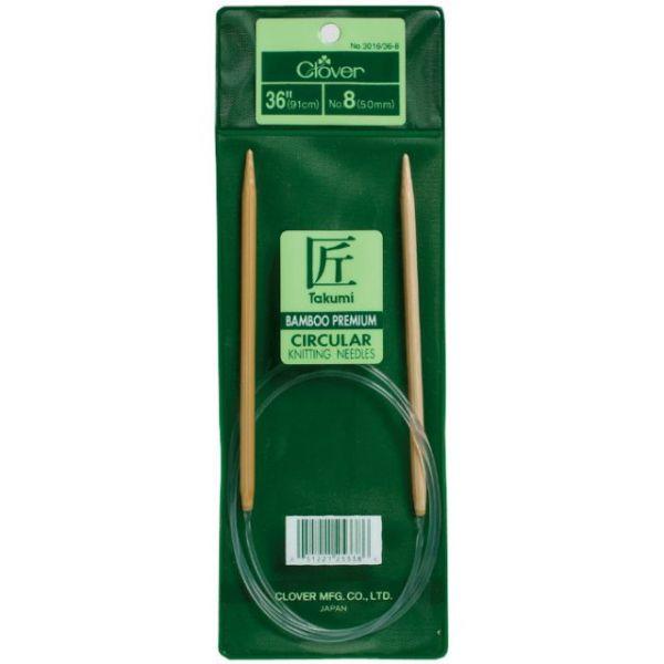 "Takumi Bamboo Circular Knitting Needles 36"""
