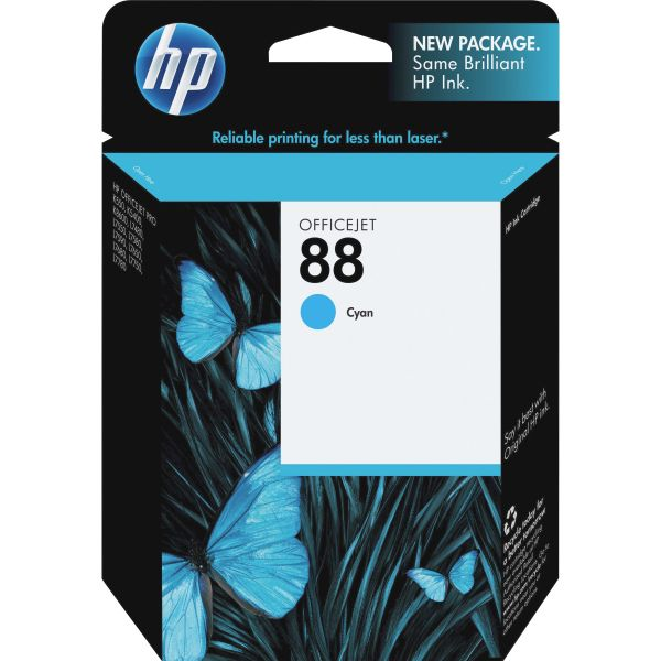 HP 88, (C9386AN) Cyan Original Ink Cartridge