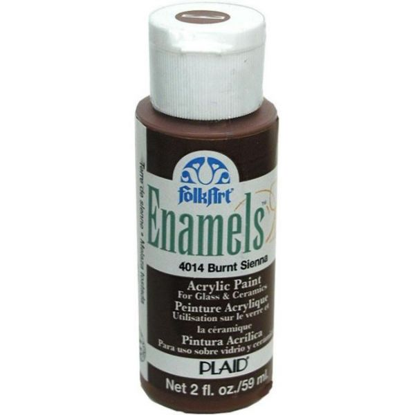 Folk Art Enamels Burnt Sienna Acrylic Paint