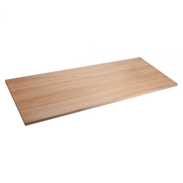 Lorell Quadro Sit/Stand Straight Edge Latte Tabletop