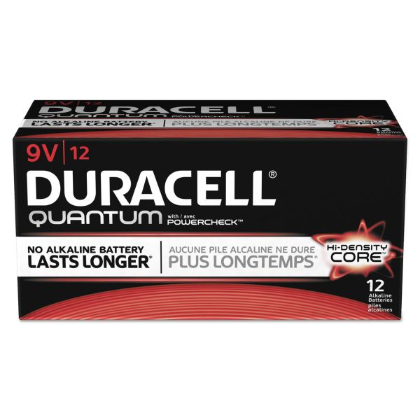 Duracell Quantum 9V Batteries with Duralock Power Preserve Technology
