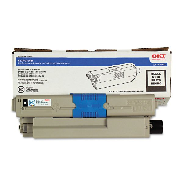 Oki 44469801 Black Toner Cartridge