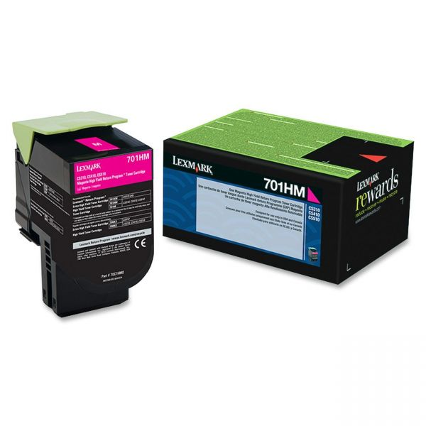 Lexmark 70C1HM0 Magenta High Yield Return Program Toner Cartridge