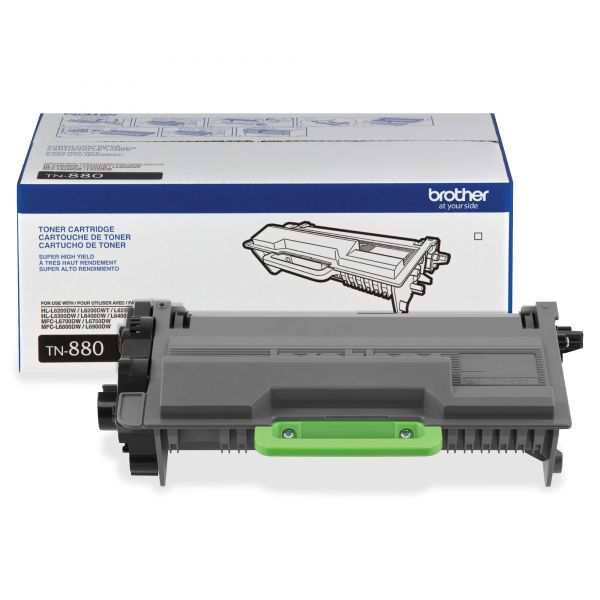 Brother TN880 Black Super High-Yield Toner Cartridge