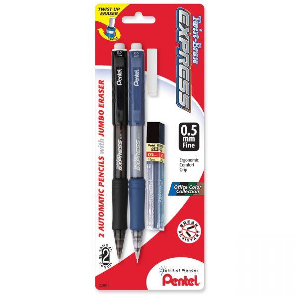 Pentel Twist-Erase Express 0.5 Mechanical Pencils