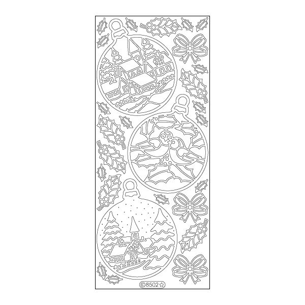 Christmas Ornament Sceneries Peel-Off Stickers