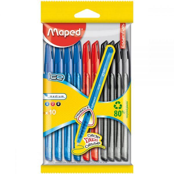 Triangular Ballpoint Pen 10/Pkg