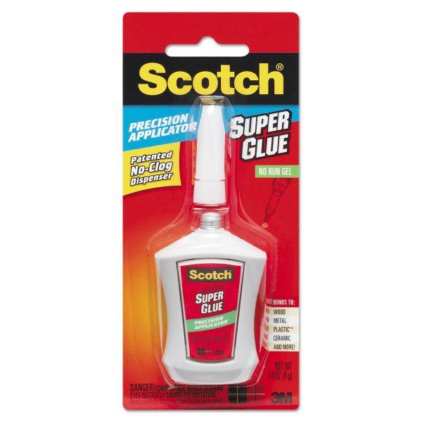 Scotch Super Glue Gel, Precision Applicator, 0.14 oz