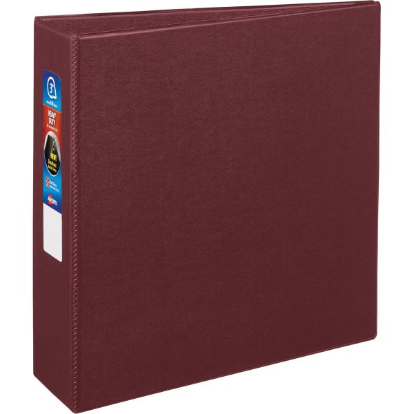 "Avery Heavy-Duty 3-Ring Binder with One Touch EZD Rings, 3"" Capacity, Maroon"