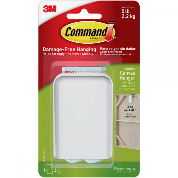 Command Jumbo Canvas Hanger 1/Pkg