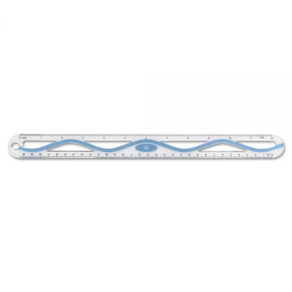 "Westcott 12"" Plastic Wave Ruler"