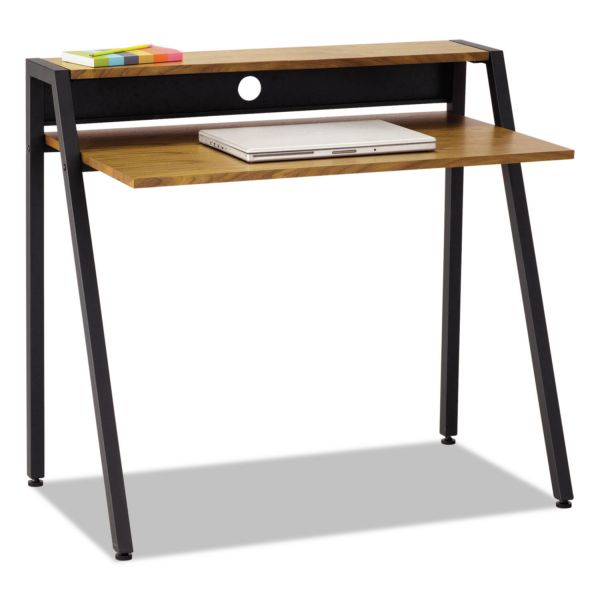 Safco Writing Desk, 37 3/4 x 22 3/4 x 34 1/4, Natural/Black