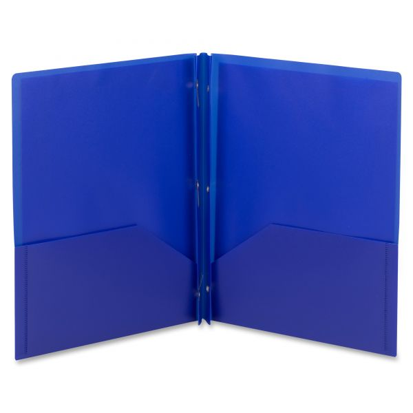 Smead Plastic Two Pocket Folders with Fasteners