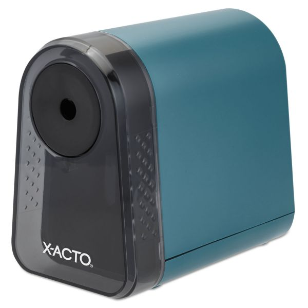 X-ACTO Mighty Mite Home Office Electric Pencil Sharpener, Mineral Green