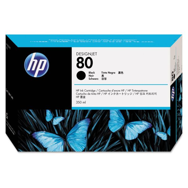 HP 80 Black Ink Cartridge (C4871A)