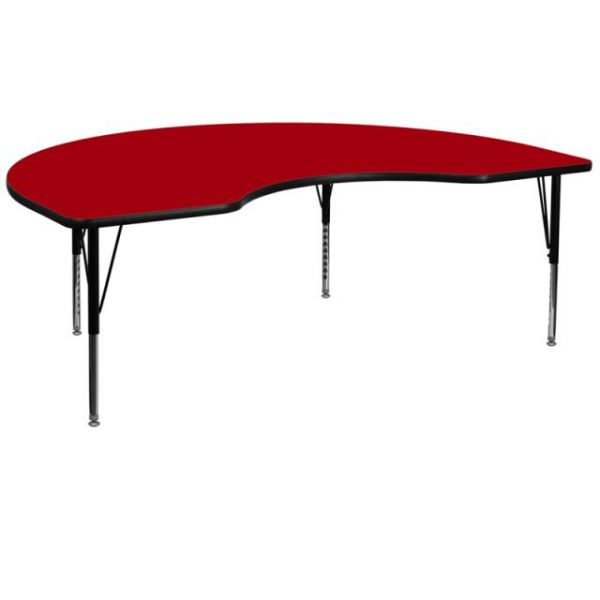 Flash Furniture Height Adjustable Kidney Shaped Activity Table