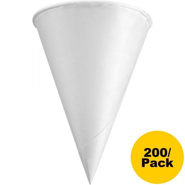 Konie Rolled-Rim 4.5 oz Paper Cone Cups