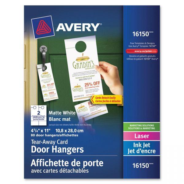 Avery Door Hangers w/Tear-Away Cards