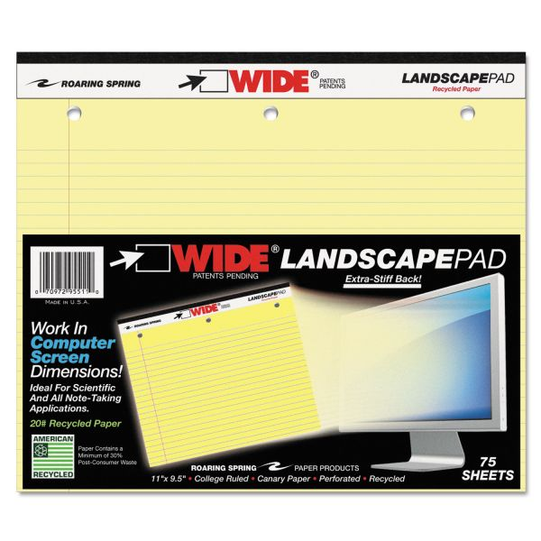 Roaring Spring WIDE Landscape Legal Pad