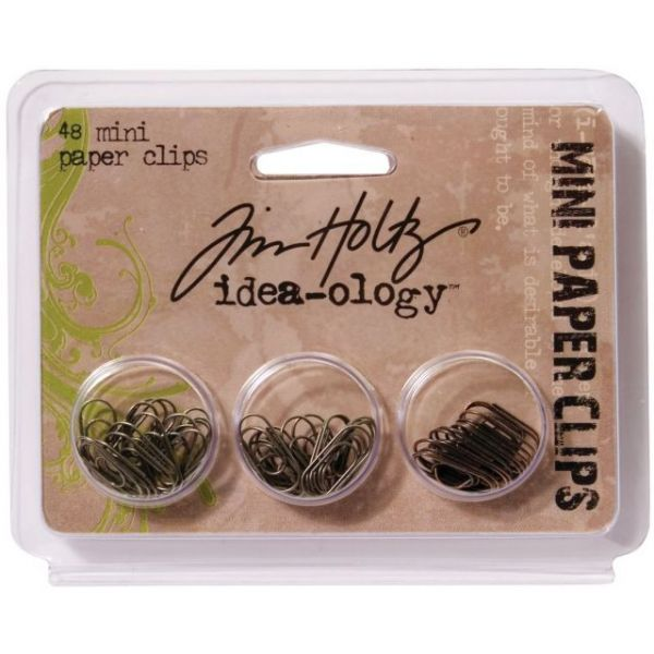 "Idea-Ology Mini Paper Clips .625"" 48/Pkg"