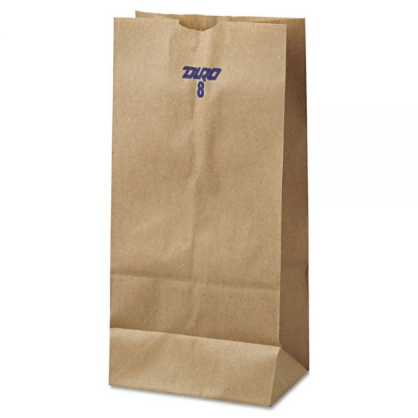 General #8 Brown Paper Grocery Bags