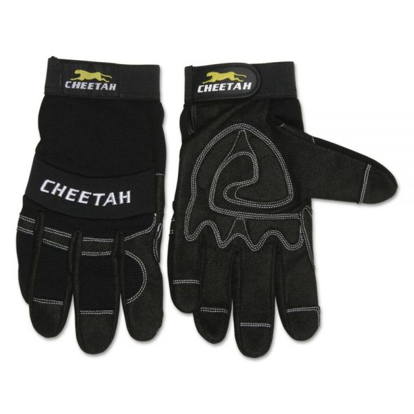 MCR Safety Cheetah 935CH Gloves, Small, Black