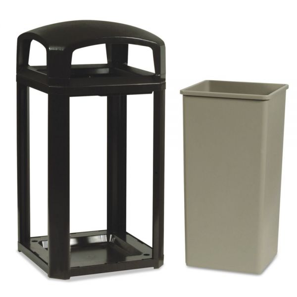 Rubbermaid Landmark Series Classic Dome Top 50 Gallon Trash Can w/Ashtray