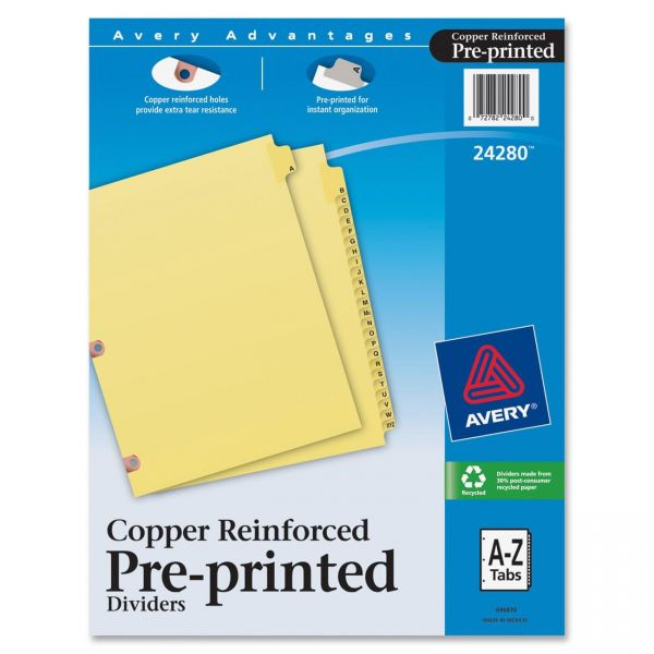 Avery Copper Reinforced Alphabet Tab Index Dividers