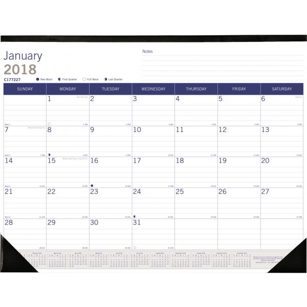 Blueline DuraGlobe Monthly Desk Pad