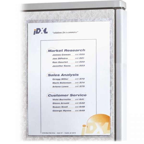 C-Line Cubicle Keepers Self-Gripping Office Panel Sign Holders