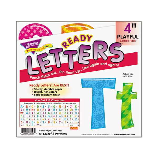 TREND Colorful Patterns Playful Uppercase/Lowercase Ready Letters