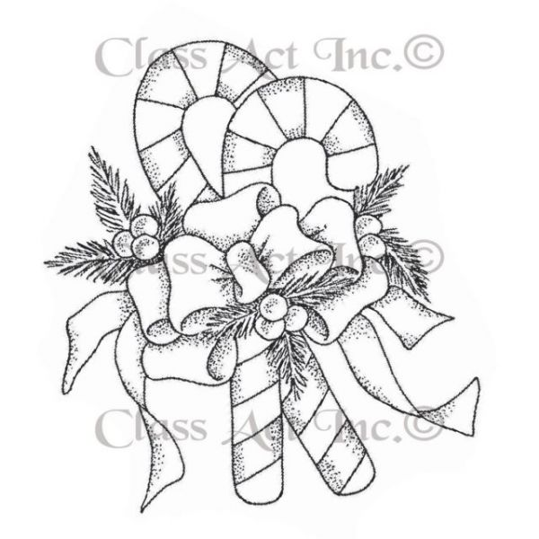 "Class Act Cling Mounted Rubber Stamp 3""X5.5"""