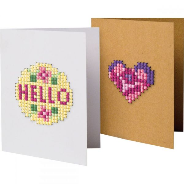 Greeting Card Fronts Punched For Cross Stitch