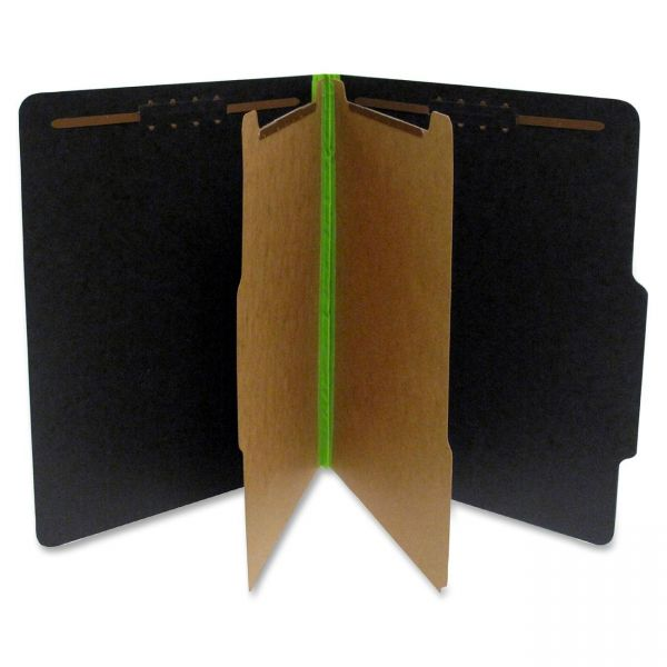 S J Paper Black/Lime Green Pressboard Classifcation Folders