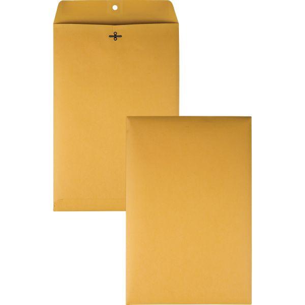 Quality Park Clasp Envelope, 10 x 15, 28lb, Brown Kraft, 100/Box