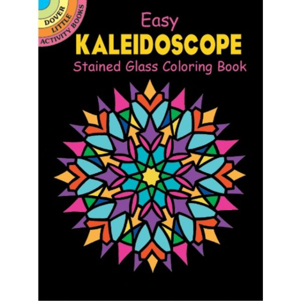 Dover Publications: Kaleidoscope Stained Glass Coloring Book