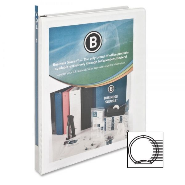 """Business Source 1/2"""" 3-Ring View Binder"""