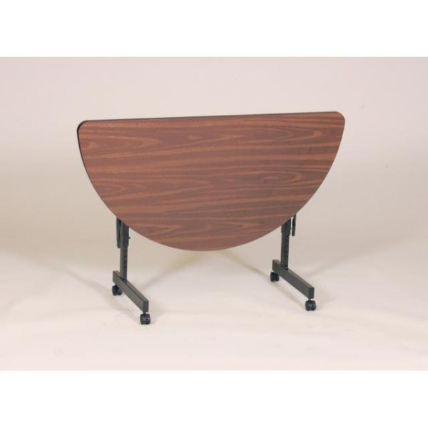 Correll EconoLine Adjustable Height Half Round Flip Top Table
