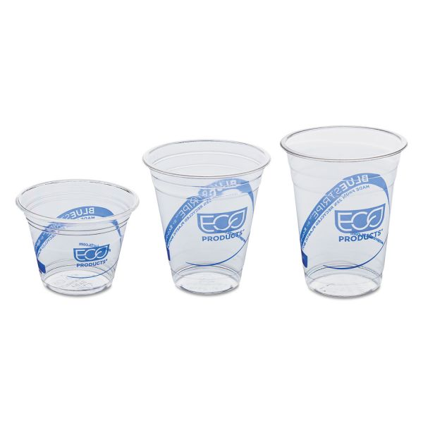 Eco-Products Blue Stripe 9 oz Plastic Cups