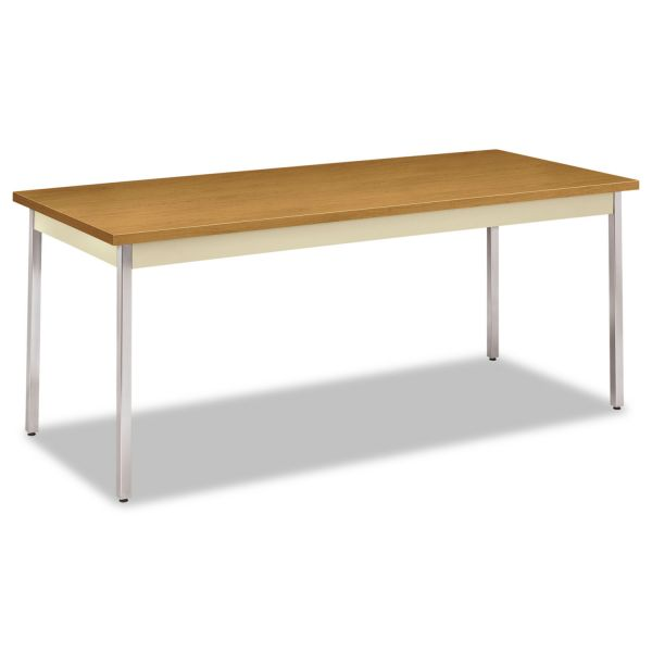 HON Utility Table, Rectangular, 72w x 30d x 29h, Harvest/Putty