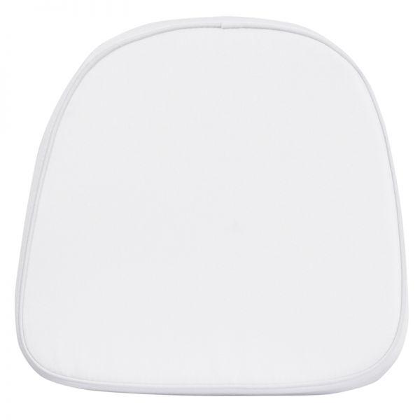 Flash Furniture Kids Soft White Fabric Chiavari Chair Cushion