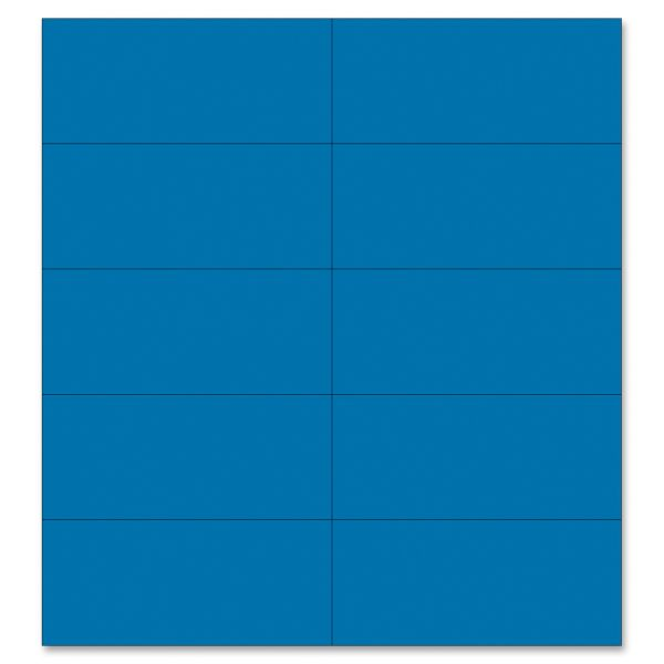 "MasterVision Dry Erase Magnetic Tape Strips, Blue, 2"" x 7/8"", 25/Pack"