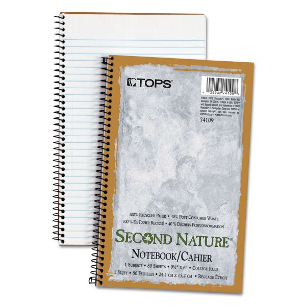 TOPS Second Nature Subject Wire Notebook