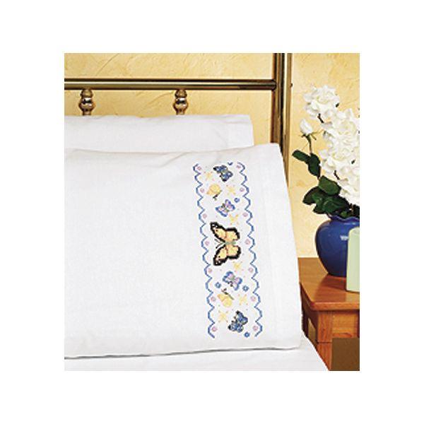 "Stamped Cross Stitch Pillowcase Pair 20""X30"""