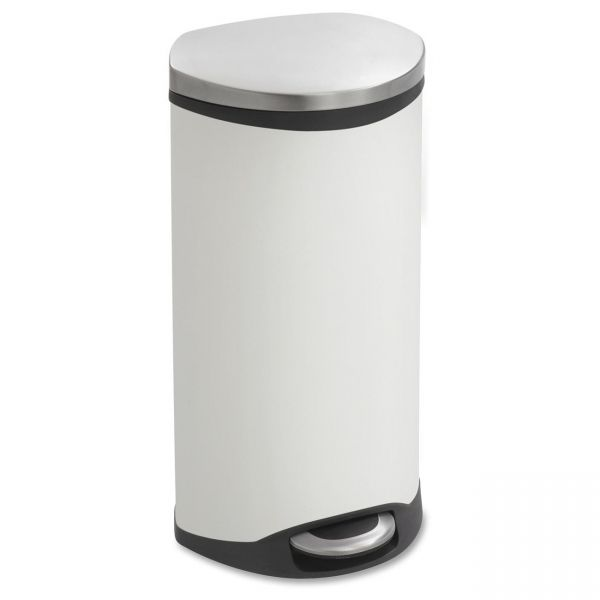 Safco Hands Free Step-On 7.5 Gallon Trash Can