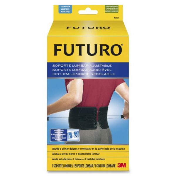 Futuro Adjustable Back Support, Fits Waist 29-51 in., Black